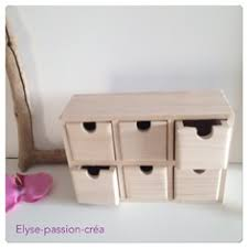 boite a tiroirs en bois boite casier 6 tiroirs en bois à décorer 21 x 7 x 14 5 cm