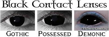 Cheap Prescription Halloween Contact Lenses by Black Contact Lenses Sclera Contacts Blackout Gothic