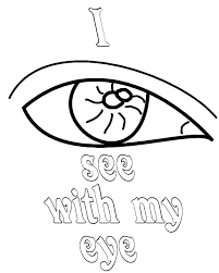 I See With My Eye Coloring Pages