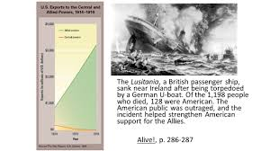 When Did Germany Sink The Lusitania by World War I Study Materials Ch 11 First World War History Alive