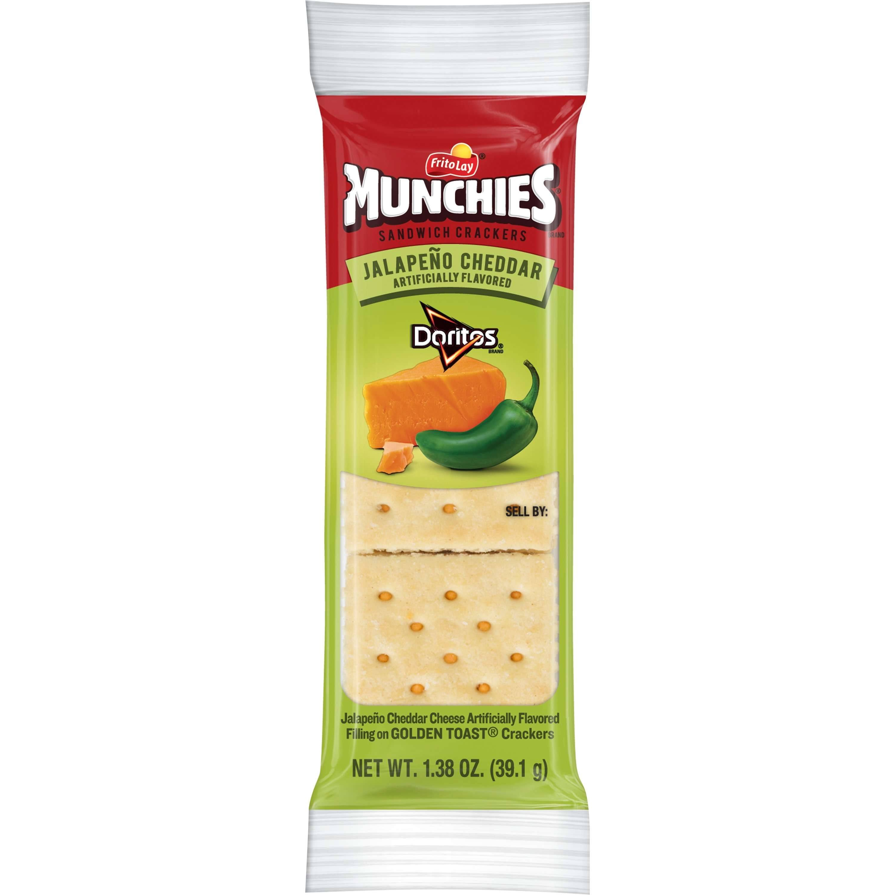 Munchies Sandwich Crackers, Jalapeno Cheddar - 1.38 oz