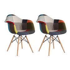 mifi esszimmerstühle 2er set stuhl esszimmerstuhl patchwork design klassiker patchwork sessel retro barstuhl wohnzimmer küchen stuhl esszimmer sitz
