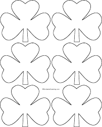 Shamrock Template Right Click Image And Save To Downloads For Full Page TemplateShamrock PrintableMarch