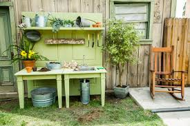 Shed Bench by Gardening Table Diy Home Outdoor Decoration