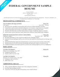 Sample Objectives In Resume For Government Employee Federal Template Templ