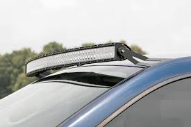 54in Curved LED Light Bar Upper Windshield Mounting Brackets for