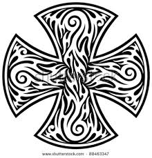 Cross Tribal Tattoo Stock Images Royalty Free Vectors
