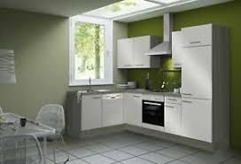 details zu küchenzeile l form winkelküche mit geräten eck küche einbauküche 270 x 175 beige