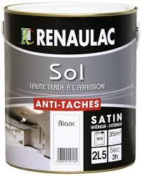 sols colori blanc satiné anti tâches et lessivable 2 5 l