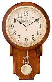 Large Pendulum Clock Arabic Numerals Golden Oak