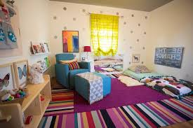 polka dots nursery eclectic with striped carpet tiles original