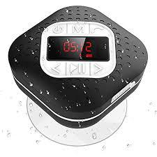 agptek bluetooth 4 1 duschradio mit led digitalem bildschirm saugnapf ipx4 wasserdicht wireless fm radio lautsprcher mit wahlwiederholung und