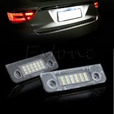 2x smd 18 led license plate light l bulb white for ford fusion