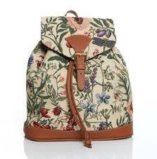 signare petit sac à dos backpack tapisserie toile mode sacs de