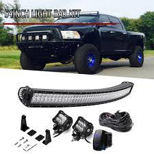 100 Chevy Silverado Truck Parts 54 Curved LED Light Bar Upper Roof GMC Sierra 1500