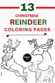 Free Printable Christmas Reindeer Coloring Pages 13 For Kids To Color Includes Baby Face