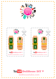 Miniature Printables Dollhouse Diy