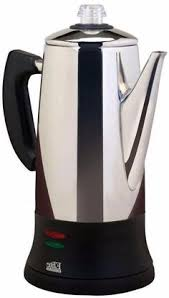 Portable 12 Cup Automatic Tea And Coffee Percolator With Removable Filter