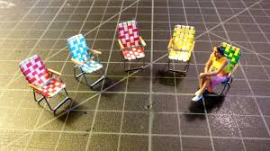 O Scale Scratch Builder: O Scale Folding Lawn Chair Build
