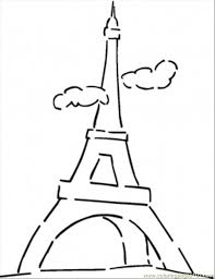 Coloring Pages Famous Eiffel Tower Countries France