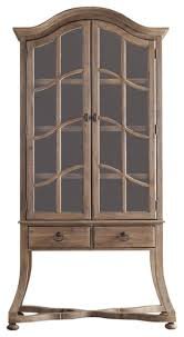 corsica display cabinet light wood traditional china cabinets