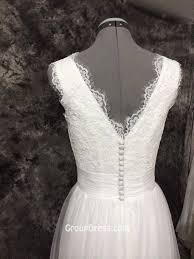 White Lace Sleeveless Organza Skirt Rustic Bridal Wedding Dress