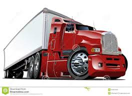 Cartoon Semi Truck Stock Illustrations – 543 Cartoon Semi Truck ...