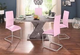 essgruppe set 5 tlg mit 4 stühlen und tisch in zement optik kaufen otto