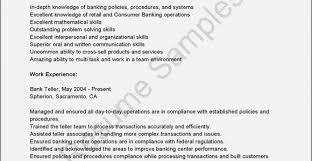 50 Luxury Sample Resume For Retail Banker