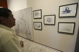 inauguran exposición bocetos para los frescos del paraninfo