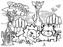 Crafty Inspiration Ideas Printable Jungle Animal Coloring Pages Rainforest For Kids Collection