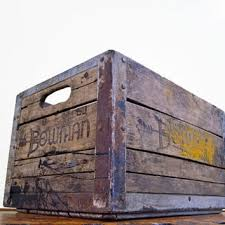 Vintage Wood Crate Bowman Antique Milk Wooden Box