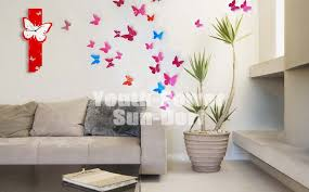 3D Wall Sticker Butterfly 30pcs Home Room Decor Decorations Pop Up