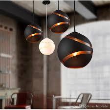 großhandel nordic design pendelleuchte glas kugel hängen le esszimmer küche loft dekor home beleuchtung weiße schwarze leuchten 110 240v le44