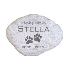GiftsForYouNow Engraved Pet Memorial Garden Stone, 11