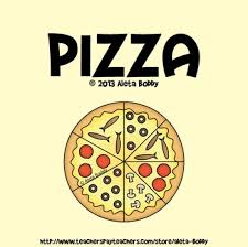 Pizza Graphics For Fraction And Counting Games