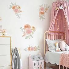 gemalt wasser farbe blumen wand aufkleber schlafzimmer