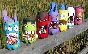 Preschool Crafts Kids Halloween Recycled Bottle Monster