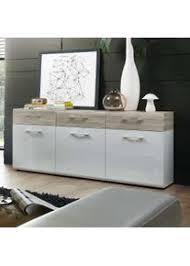 esszimmer sideboard in weiß hochglanz sandeiche modern