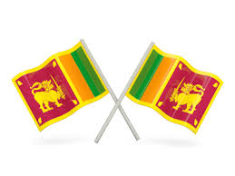 Two Wavy Flags Illustration Of Flag Sri Lanka