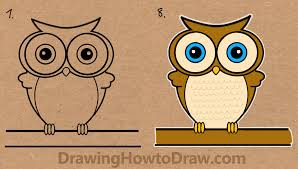 1352x768 How To Draw A Cartoon Owl From Word Drawing Tutorial For Kids