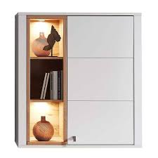 1 türiger wohnzimmer hängeschrank mit led licht connassa
