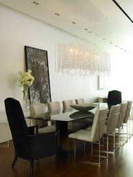 Contemporary Dining Room Idea In New York With White Walls And Dark Wood Floors