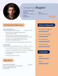 Photographer Resume Template - Visme Leading Professional Senior Photographer Cover Letter 10 Freelance Otographer Resume Lyceestlouis Resume Example And Guide For 2019 Examples Free Graphy Accounting Sample Full Writing 20 Examples Samples Template Download Psd Freelance New 8 Beginner 15 Design Tips Templates Venngage