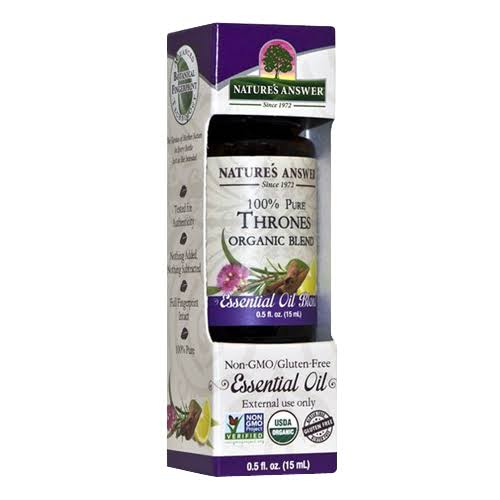 Natures Answer Essential Oil Blend, Organic, Thrones - 0.5 fl oz