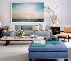 What A Calm Living Room Sitting The Ocean Photography Is Well Done In That Big Glossy Frame With No Matting Love Cozy Grey Couch