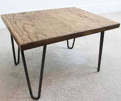 Trace Hairpin Industrial Coffee Table Russell Oak And Steel Ltd