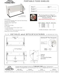 Advance Tabco Sink Accessories by Advance Tabco Pfs 48b X Sleek Shield Food Shield Culinary Depot