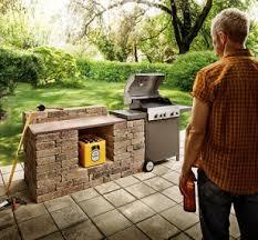 grillkamin gas outdoor küche stein
