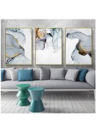 blau grau marmor leinwand kunstdruck abstrakte malerei